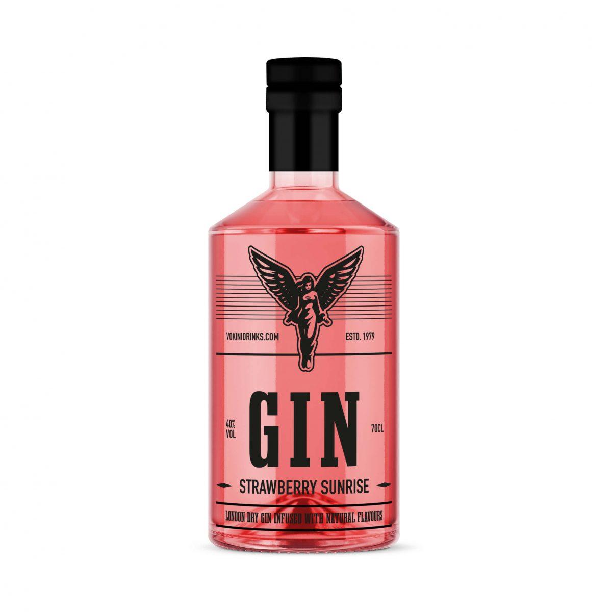Strawberry sunrise gin vokini
